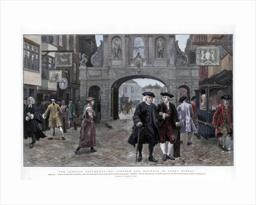 Dr Johnson and Boswell in Fleet Street by Charles Green