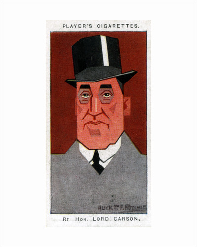 Edward Carson, 1st Baron Carson, Ulster leader and advocate by Alick P F Ritchie