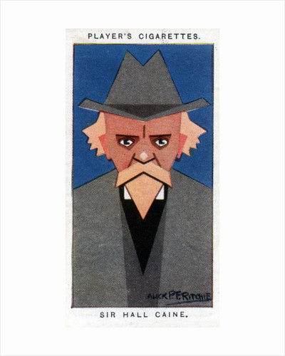 Sir Hall Caine, British novelist by Alick P F Ritchie