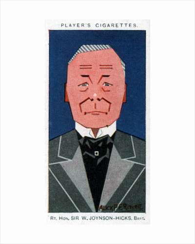 William Joynson-Hicks, 1st Viscount Brentford, British statesman by Alick P F Ritchie