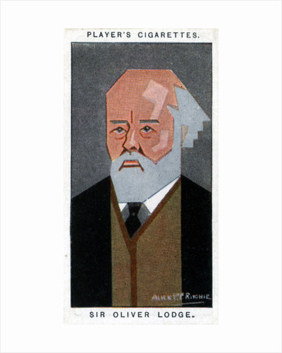 Sir Oliver Lodge, British physicist by Alick P F Ritchie