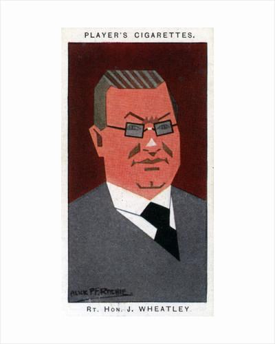 John Wheatley, Scottish politician by Alick P F Ritchie
