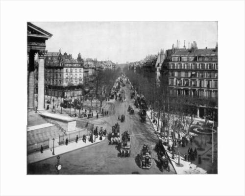 Boulevard de la Madeleine, Paris by John L Stoddard