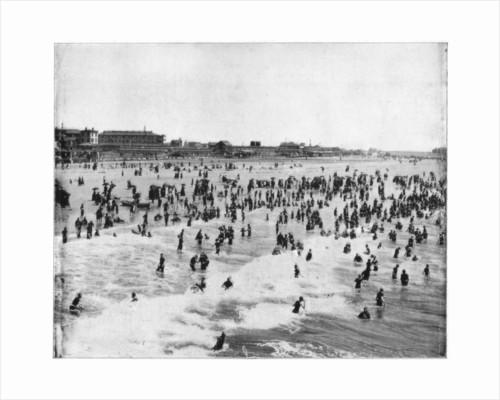 Beach at Atlantic City, New Jersey, USA by John L Stoddard