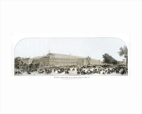 Exterior of the Palace of Industry, Exposition Universelle, Paris by Benoist