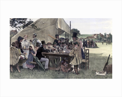 A country cricket match, Sussex by John Robertson Reid
