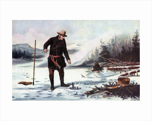 Trout Fishing on Chateaugay Lake, American Winter Sports by Arthur Fitzwilliam Tait