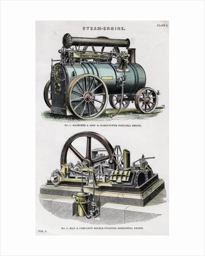 Steam engine by Anonymous