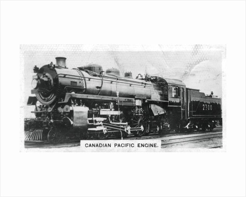 Canadian Pacific passenger engine, Canada by Anonymous