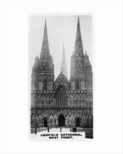 'Lichfield Cathedral, West Front', Staffordshire by Anonymous