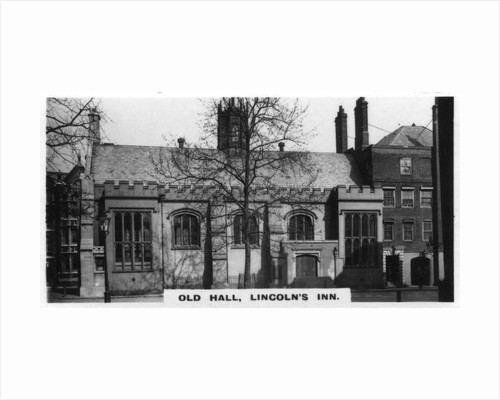 'Old Hall, Lincoln's Inn', London by Anonymous