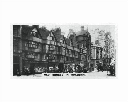 'Old Houses in Holborn', London by Anonymous