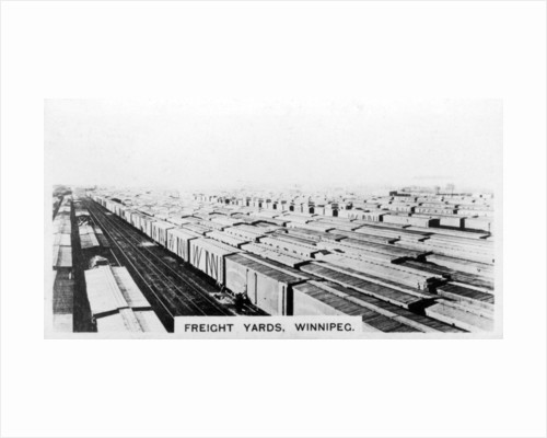 Freight yards, Winnipeg, Manitoba, Canada by Anonymous