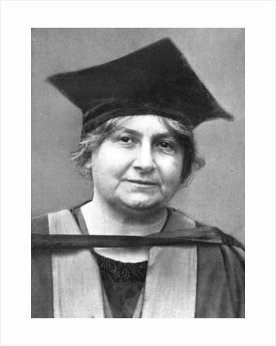 Dr Maria Montessori (1870-1952), Italian philosopher by Anonymous