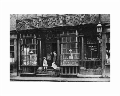A shop front, Artillery Lane, off Bishopsgate, London by McLeish