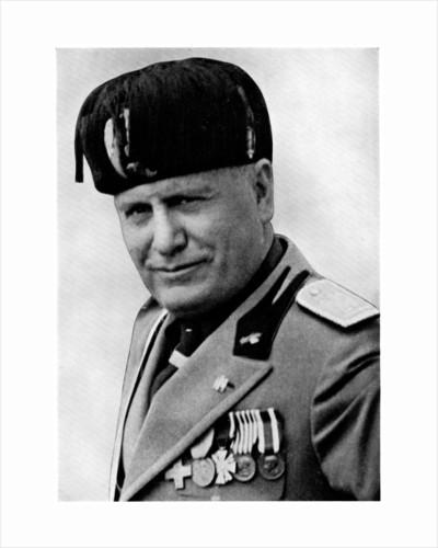 Benito Mussolini, Italian fascist dictator by Mussolini