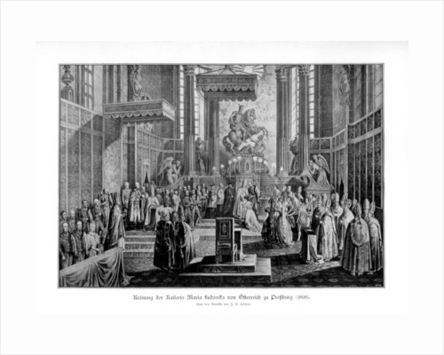 Coronation of the Empress Maria Ludovica of Austria in Pressburg by Anonymous