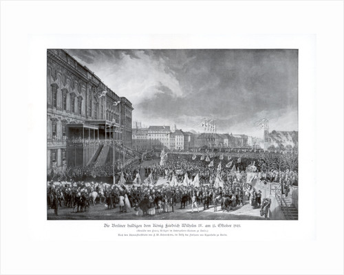 The accession to the throne of Frederick William IV of Prussia by Anonymous