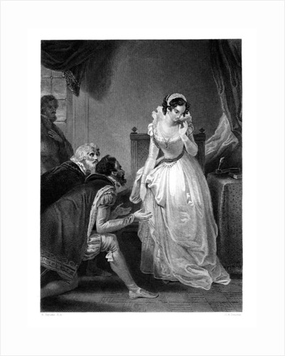 Lady Jane Grey declining the Crown by HK Bourne