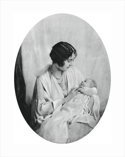Queen Elizabeth with Princess Elizabeth in 1926 by John Saint-Helier Lander