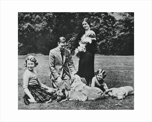 Royal family as a happy group of dog lovers by Michael Chance