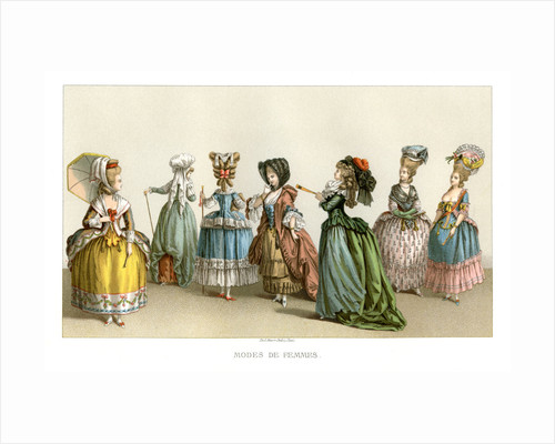Women's fashions of the 18th century by Durin