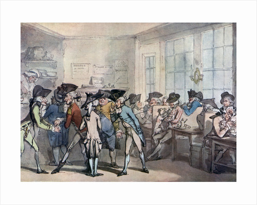 The French coffee house by Thomas Rowlandson