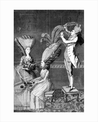 The Preposterous Head Dress or The Feathered Lady by Anonymous