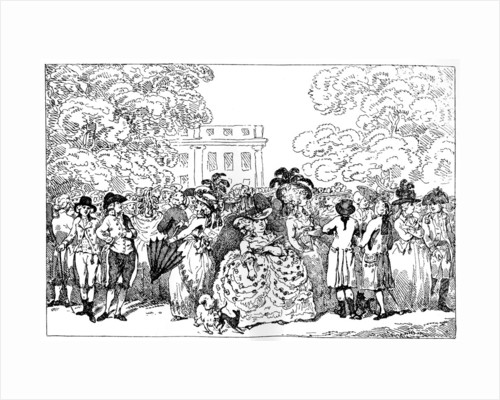 1784, or the Fashions of the Day by Thomas Rowlandson