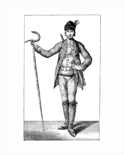 James Boswell, esq in the dress of an armed Corsican Chief, 1769. by James Wale
