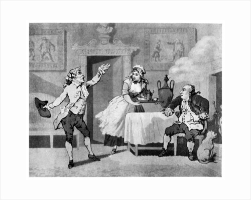 Actor reciting to a manager by Thomas Rowlandson