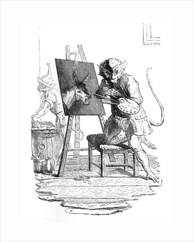 An Ape painting an Ass by George Bickham
