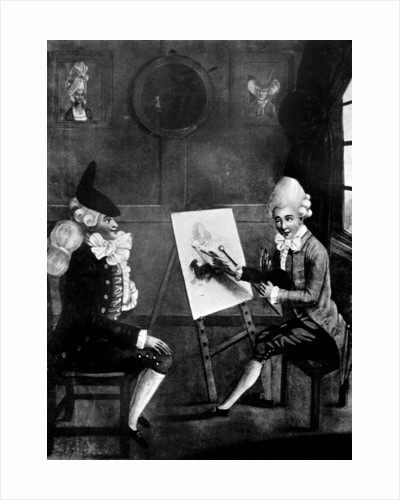 The Macaroni Painter, or Billy Dimple sitting for his picture by Robert Dighton