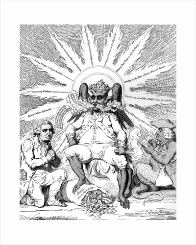 Satan in all his Glory... by James Gillray
