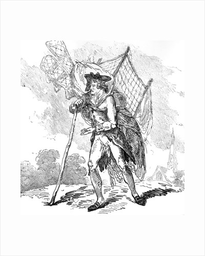 Aerostation out at Elbows' or 'The Itinerant Aeronaut by Thomas Rowlandson