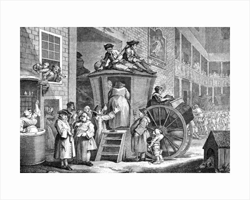 The Stage Coach or Country Inn Yard by William Hogarth
