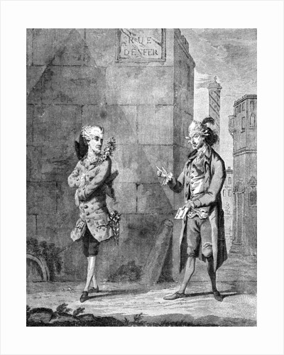 A French Petit Maitre and his Valet by Charles Grignion