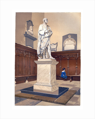Statue of Sir Isaac Newton in the chapel of Trinity College, Cambridge by Anonymous