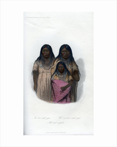 Native American women and child by Harris