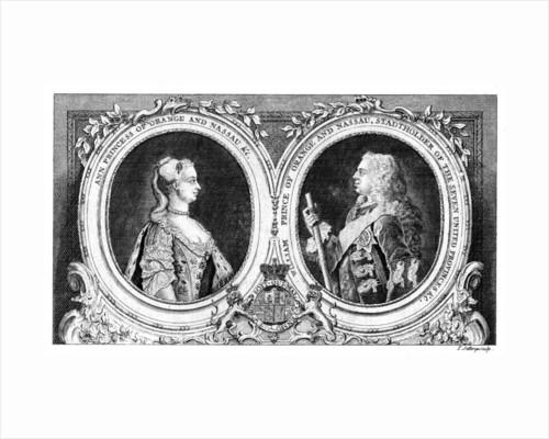 Ann, Princess of Orange and Nassau and William, Prince of Orange and Nassau by J Jeffreys