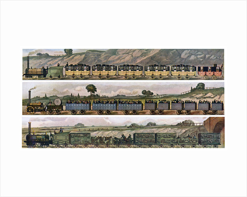 'Early railway Coaches', the Liverpool and Manchester Railway, England, 1831, (c1900-1920) by Anonymous