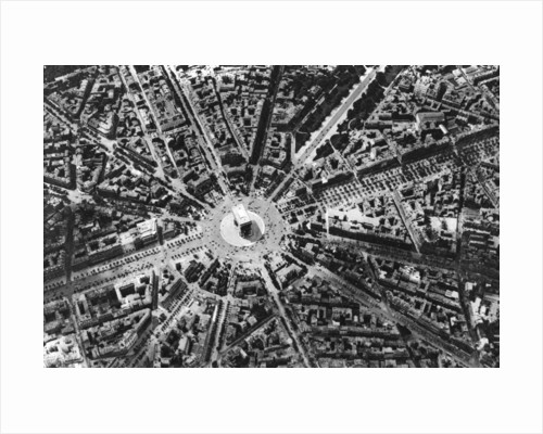 A bird's eye view of the Place de L'Etoile and the Arc de Triomphe, Paris by Ernest Flammarion