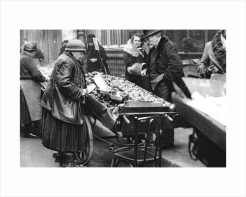 A typical fruit seller, Paris by Ernest Flammarion