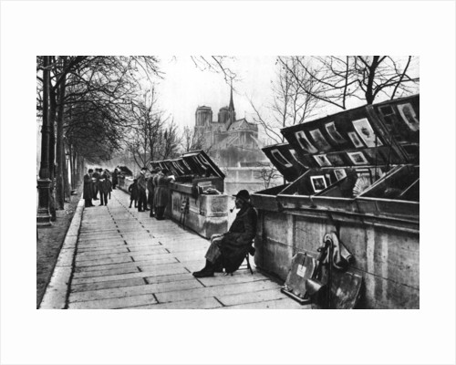 Book stalls along the quays, Paris by Ernest Flammarion