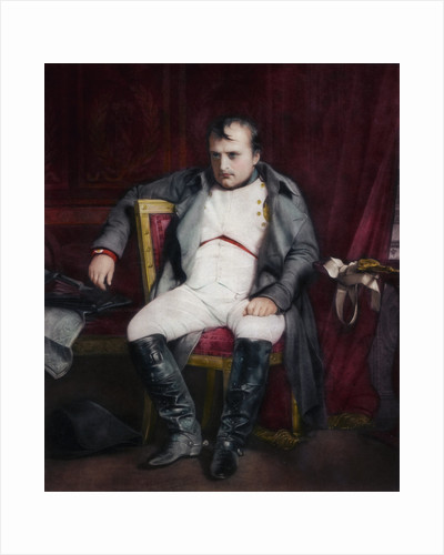 Napoleon at Fontainebleau During the First Abdication - 31 March 1814 by Paul Delaroche