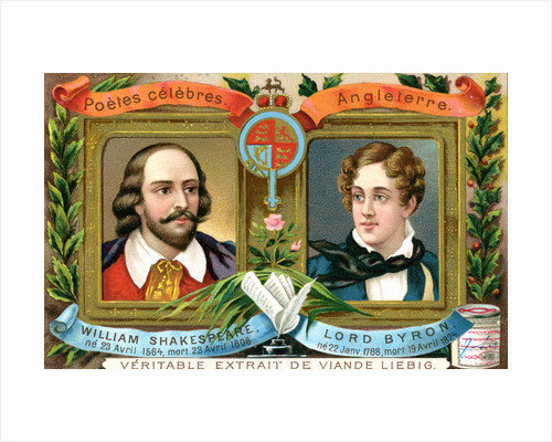 William Shakespeare and Lord Bryron by Anonymous