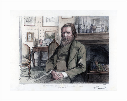 John Ruskin (1819-1900), English critic, author, poet and artist by Anonymous