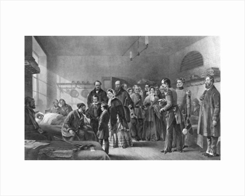 Queen Victoria (1819-1901) visiting wounded soldiers by Anonymous