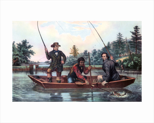 Catching a Trout by Currier and Ives