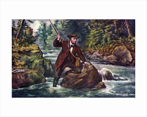 Brook Trout Fishing by Currier and Ives